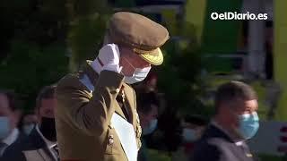 Abucheos a Pedro Sánchez al recibir a Felipe VI el #12O