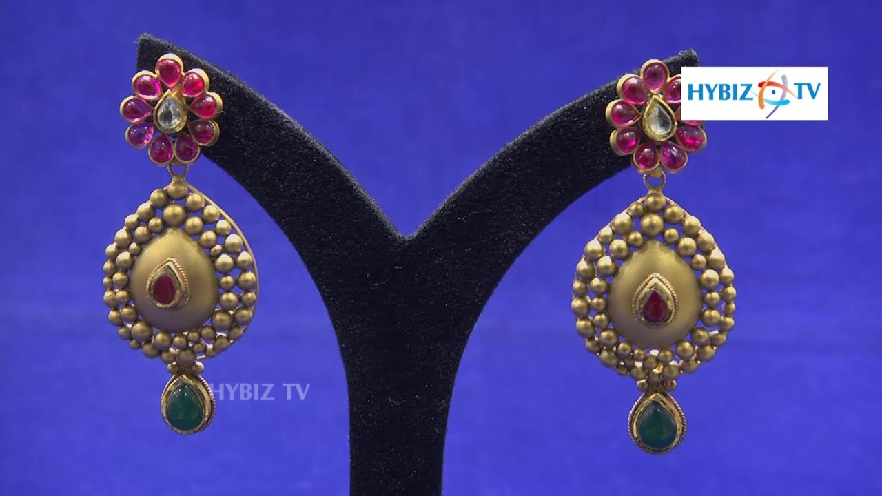 kundan gold earrings design malabar gold and diamonds