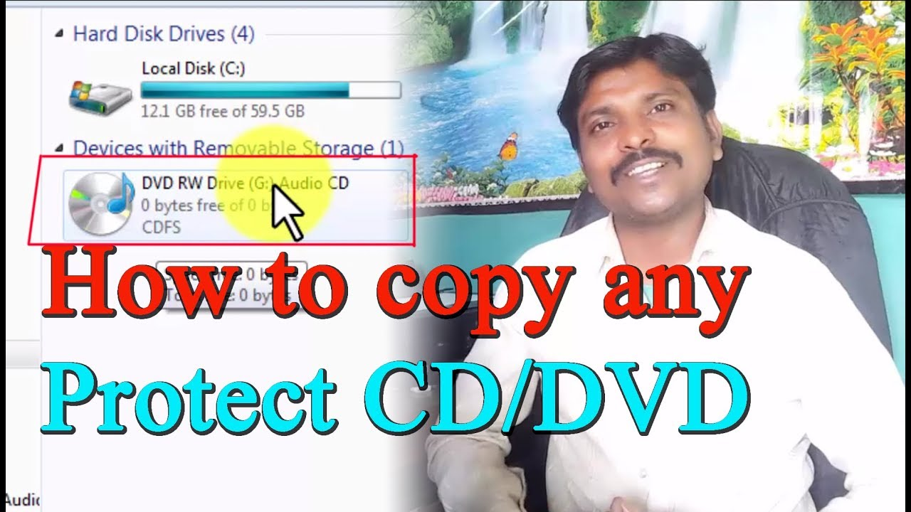 how to unprotect a write protect CD/DVD  Tips and Solution