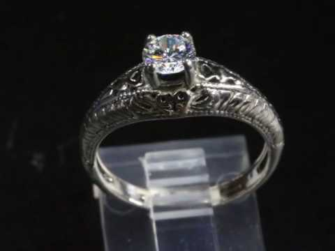 ITEM A  85 DIAMOND ENGAGEMENT RING    1