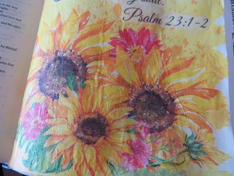 Technique Thursday #73 Psalm 23:1-2 Tissue Paper Bible Journal Page