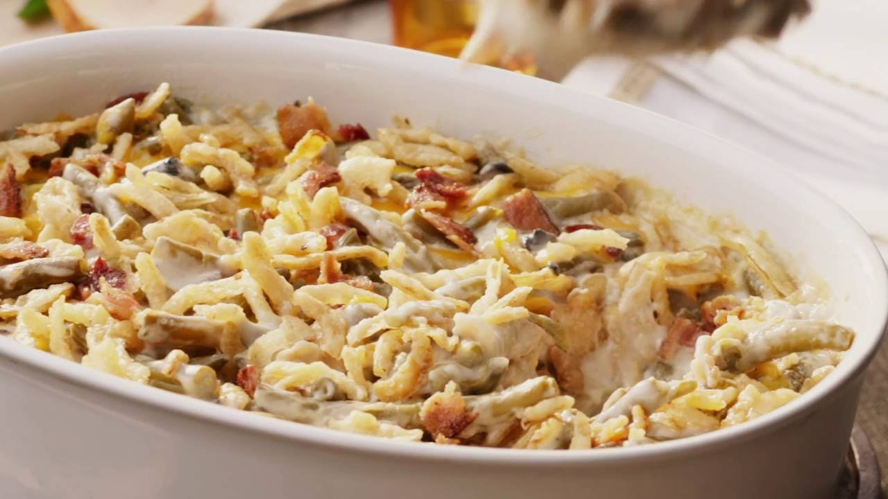 Campbell Kitchen Recipe Campbells Kitchen Bacon And Cheddar Green Bean Casserole Youtube