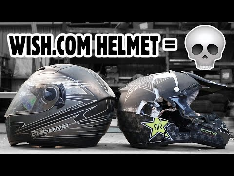 How Dangerous Is A Wish.com Crash Helmet? TESTED!