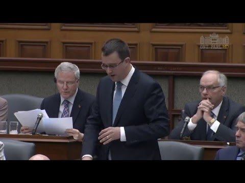 MPP McNaughton Questions Minister of Economic Development, December 7, 2015