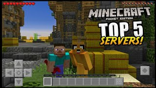 TOP 5 SERVERS PARA MINECRAFT PE 1.8 - 1.9 !!