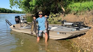 Setting Jug Lines In The River {Catch Clean Cook} Catfish For Dinner!
