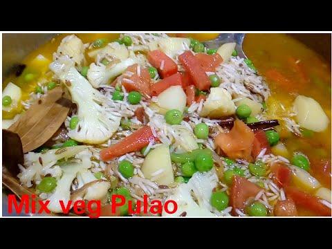 Mix Veg Pulao by Kitchen with Rehana