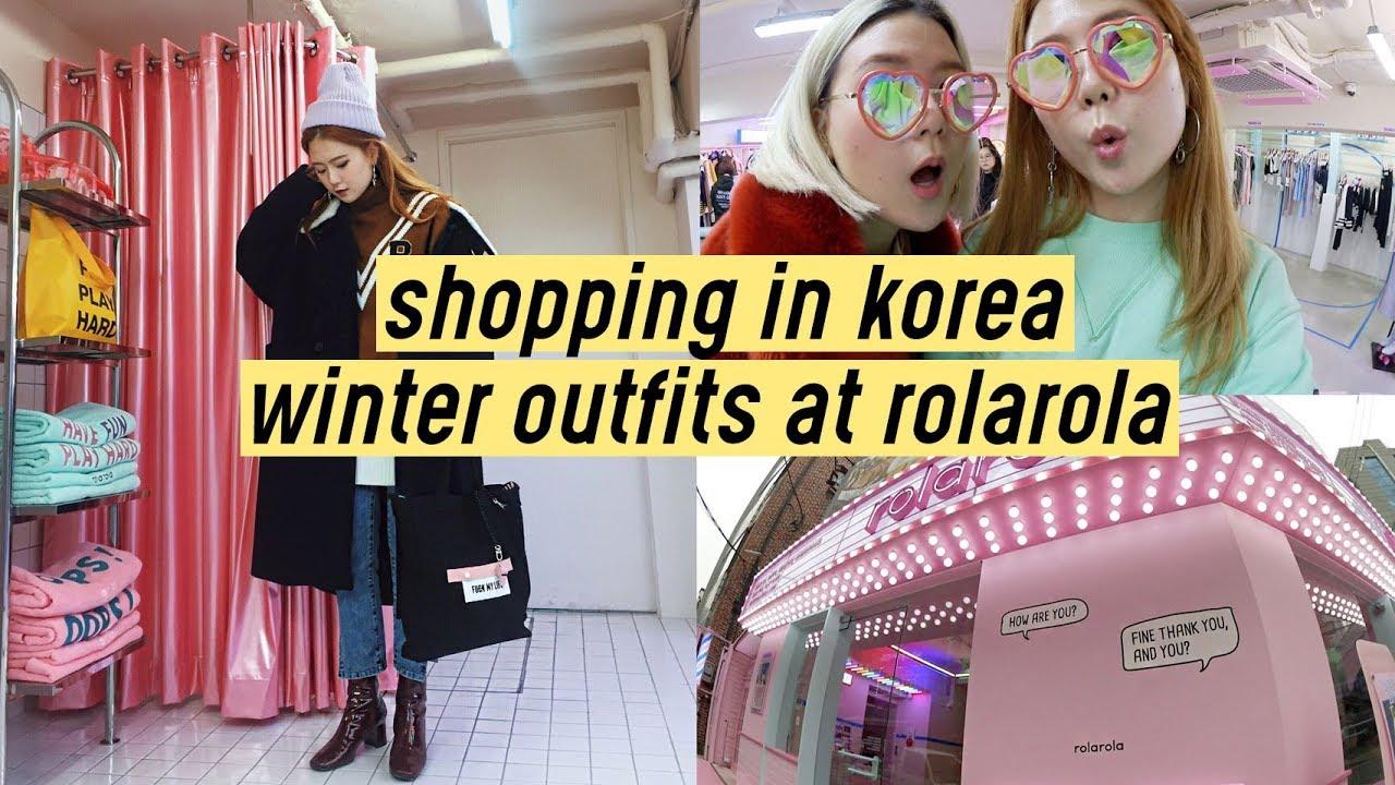 Shopping in Korea: Winter Outfits at Rolarola (Hongdae) | Q2HAN 3