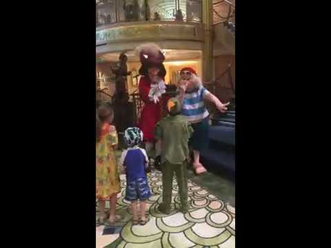 peter pan meets captain hook and mr smee youtube