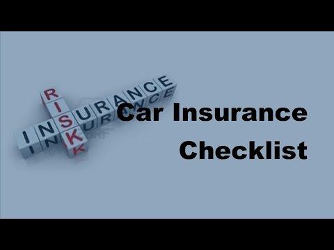 2017 Car Insurance Checklist |  Auto Insurance Fundamentals