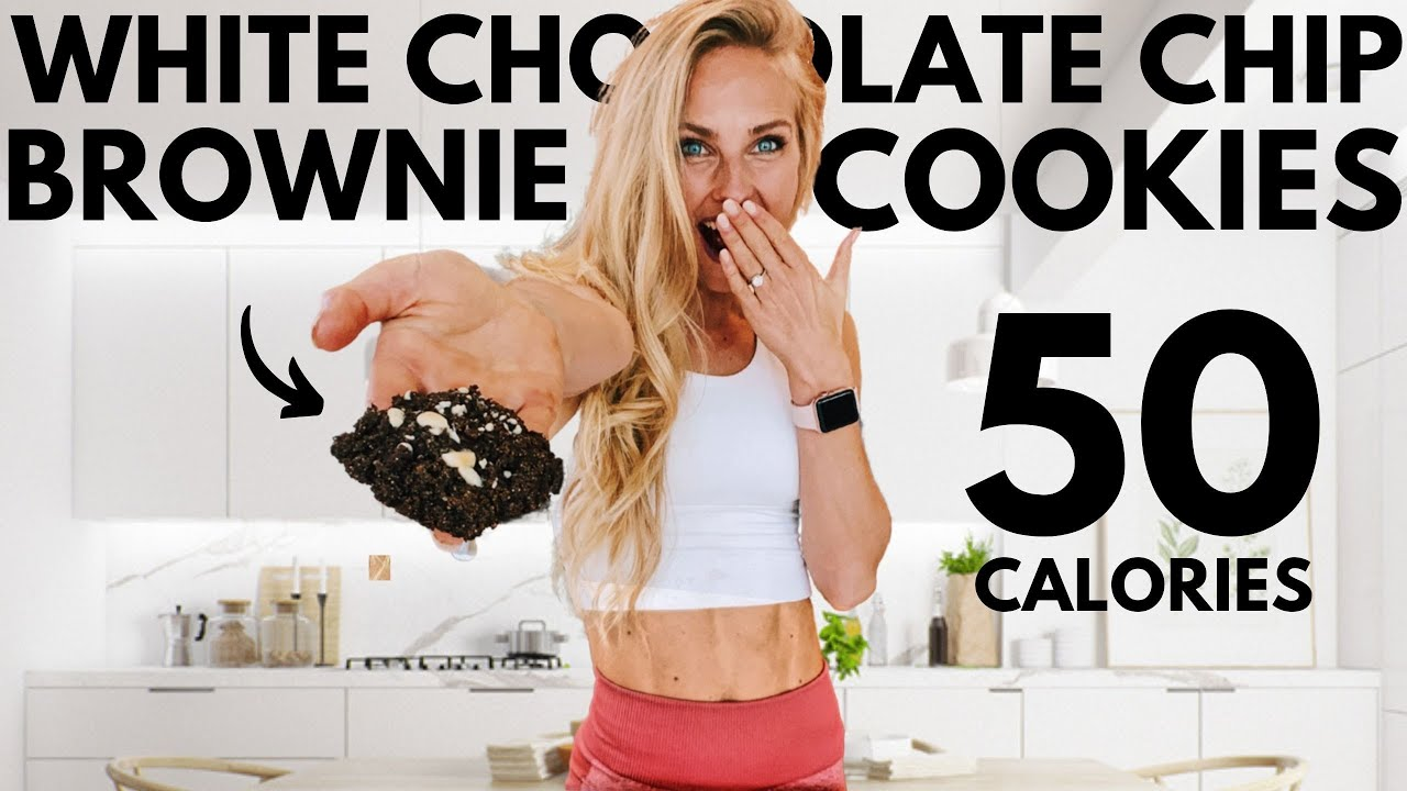 50 calorie Protein White Chocolate Chip Brownie Cookies (anabolic recipe) for weight loss or healthy