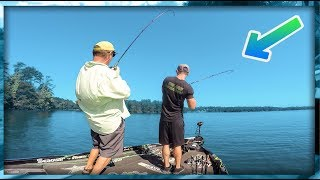 Catching TOPWATER Bass in Crystal Clear Water