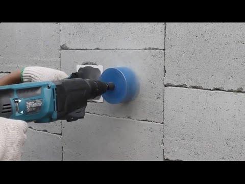 Uso da Serra Copo Diamantada para Caixa Elétrica Redonda 4x4 e 4x2 para Bloco Estrutural de Concreto