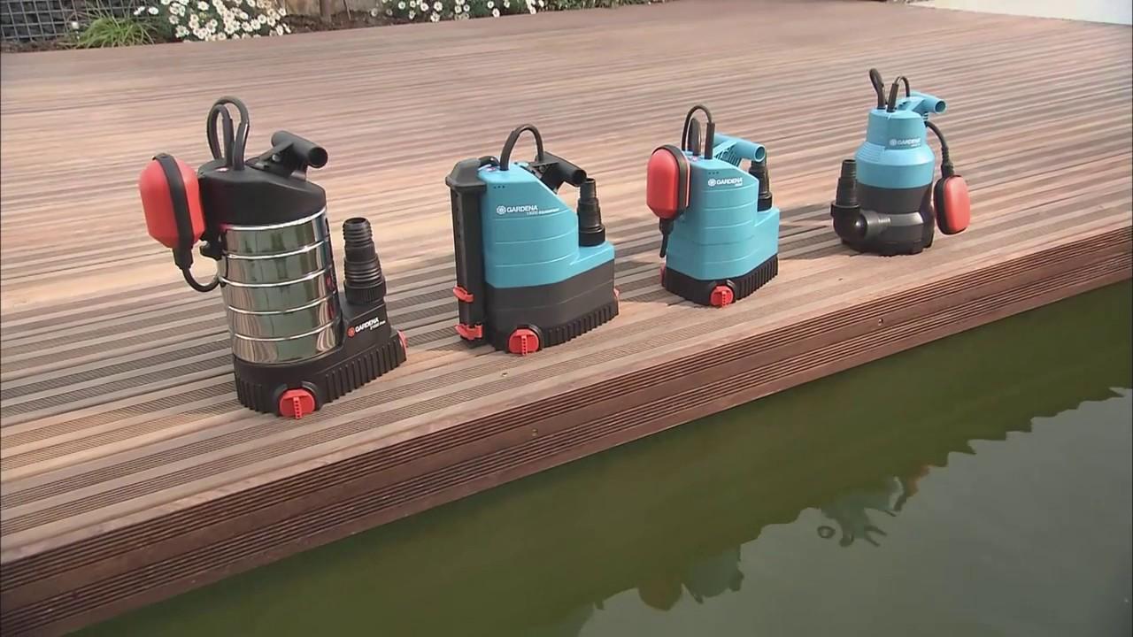 gardena schmutzwasserpumpe 13000 aquasensor - youtube