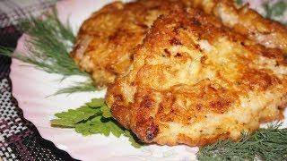 Свиные отбивные в луковом кляре / Pork chops in onion batter