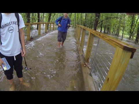 Crazy Flood Fishing At A Local Lake!!!