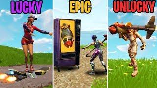 LUCKY vs EPIC vs UNLUCKY - Fortnite Funny Moments (Battle Royale)