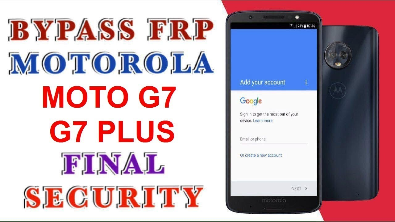 bypass google account FRP on Motorola moto g⁷ latest version & security