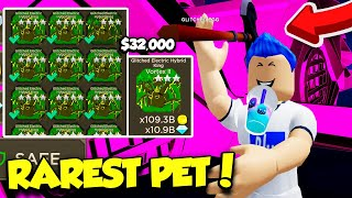 I SPENT $32,000 ROBUX ON THE BEST PET IN BLADE THROWING SIMULATOR AND BECAME OP! (Roblox)
