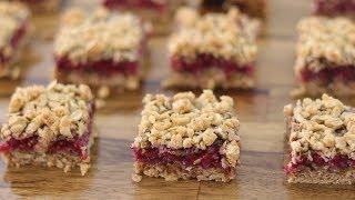Raspberry Oatmeal Squares Recipe  How to Make Raspberry Oatmeal Bars