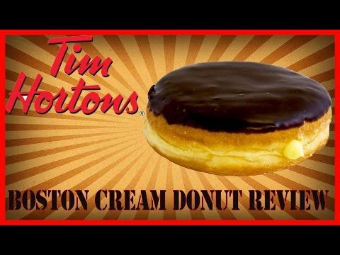 ♥Tim Horton Boston Cream Donut Review♥-Feb 3rd 2016