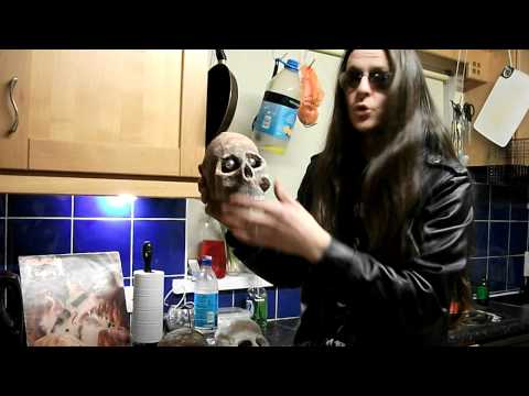 how to make a human skull using paper mache