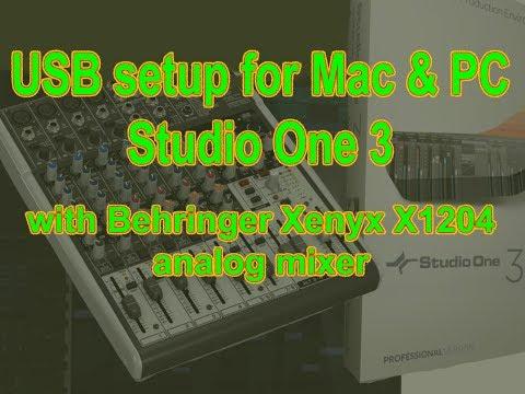 XENYX X1204USB   Studio One Setup On Mac & PC