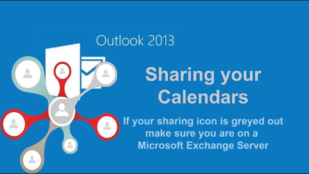 outlook 2013 calendar sharing exchange youtube