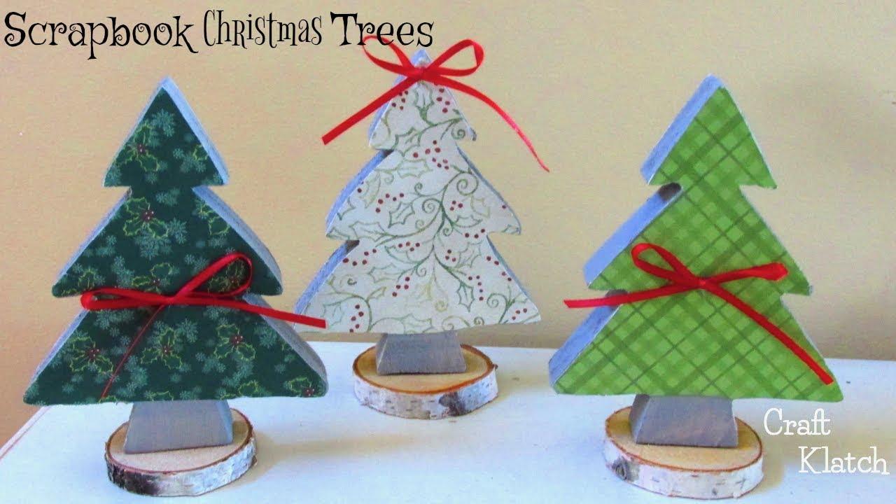 Diy Scrapbook Paper Christmas Trees Christmas Crafts Craft Klatch