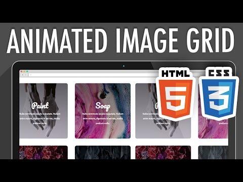 Responsive Animated Image Grid HTML5 CSS3 | XO PIXEL