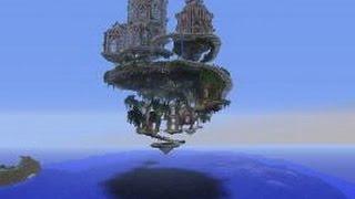 Minecraft: Seren - летающий замок (PvP Map)!