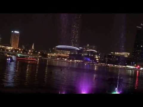 Singapore Marina Bay Sands Waterfront Laser Show 2017 (HD Quality)