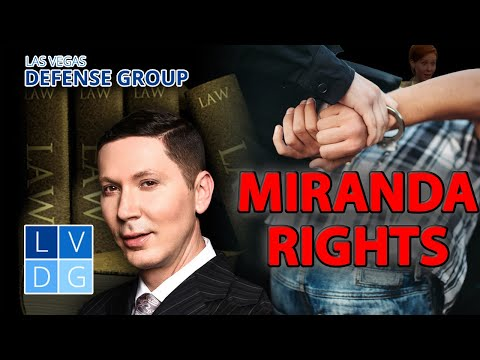 "Do police have to read ""Miranda Rights"" in DUI cases in Las Vegas, Nevada?"