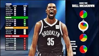 NBA 2K20 KEVIN DURANT 3 LEVEL SCORER BUILD NB2K20 - OVERPOWERED SF 3 LEVEL SCORER  BUILD