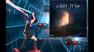 [Beat Saber] Light It Up (feat. Jex) [NCS Release] - Robin Hustin x TobiMorrow (HARD)
