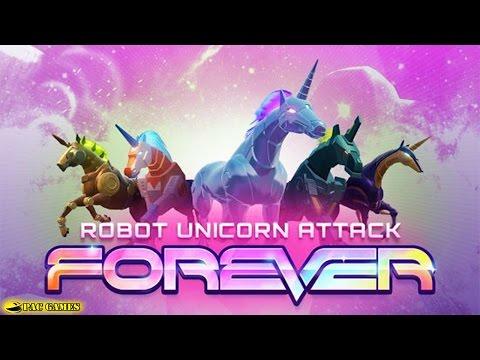 Robot Unicorn Attack 3 - New Unicorns Unlocked Gameplay Preview