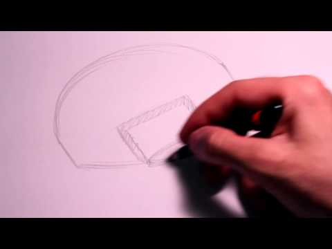 How to Draw a Basketball Backboard on Paper