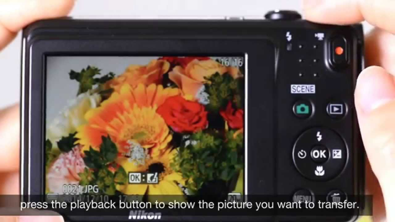 nikon coolpix s3700 how to transfer images with wi fi youtube