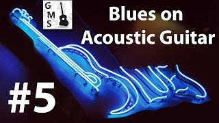 BLUES on ACOUSTIC GUITAR #5. Mississippi Blues. Tutorial. How to play / Как играть блюз на гитаре