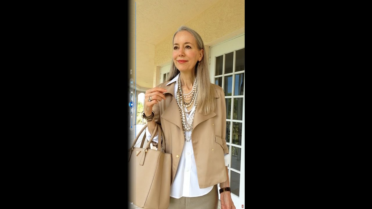 Classic Fashion Over 40 Over 50  Ann Taylor Soft Moto Jacket  Pearls     Classic Fashion Over 40 Over 50  Ann Taylor Soft Moto Jacket  Pearls  Ralph  Lauren Shirt   Prada Bag   YouTube