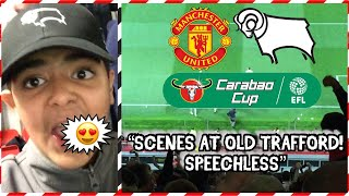 Download Video DERBY FANS GOING MENTAL AT OLD TRAFFORD😱 | MANCHESTER UNITED VS DERBY COUNTY AWAY DAY VLOG *SCENES* MP3 3GP MP4