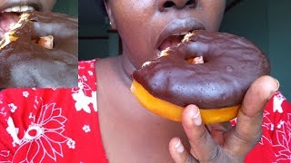 VLOGS 2018 :ASMR FOOD I ATE CHOCO DOUGHNUT &UNWRAPPING INTERNATIONAL PACKAGE SHIPPED BY KENTEX CARGO