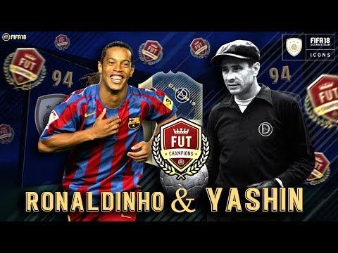 RONALDINHO & YASHIN ICONOS PRIME EN FUT CHAMPIONS EN DIRECTO !! + EA ME ROBA UN PARTIDO   FIFA 18