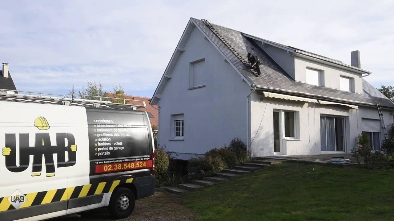 traitement de toiture sur ardoises fibrociment uab r novation youtube. Black Bedroom Furniture Sets. Home Design Ideas