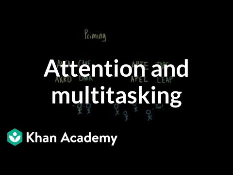 The spotlight model of attention and our ability to multitask | MCAT | Khan Academy