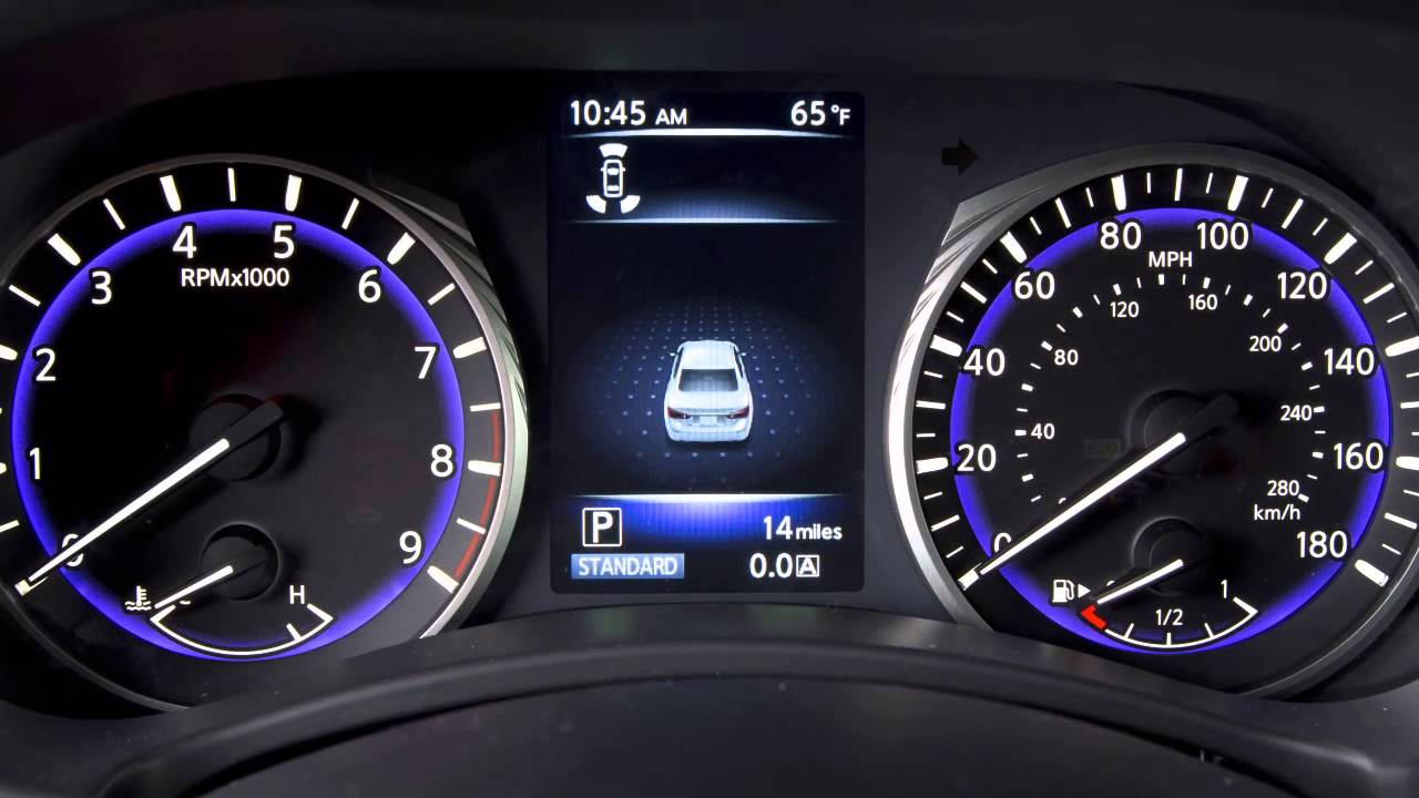 2015 INFINITI Q50 - Vehicle Information Display - YouTube