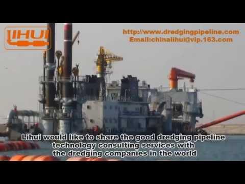 China Lihui Self floating Dredging Pipeline for Dredger vidoe