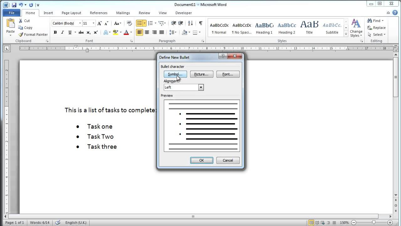 Microsoft Word 2010   Bullet Points   YouTube