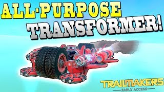 5 VEHICLES IN 1! [Car, Plane, Wall Climber, Hover, Sub] - Trailmakers Early Access Gameplay Ep32