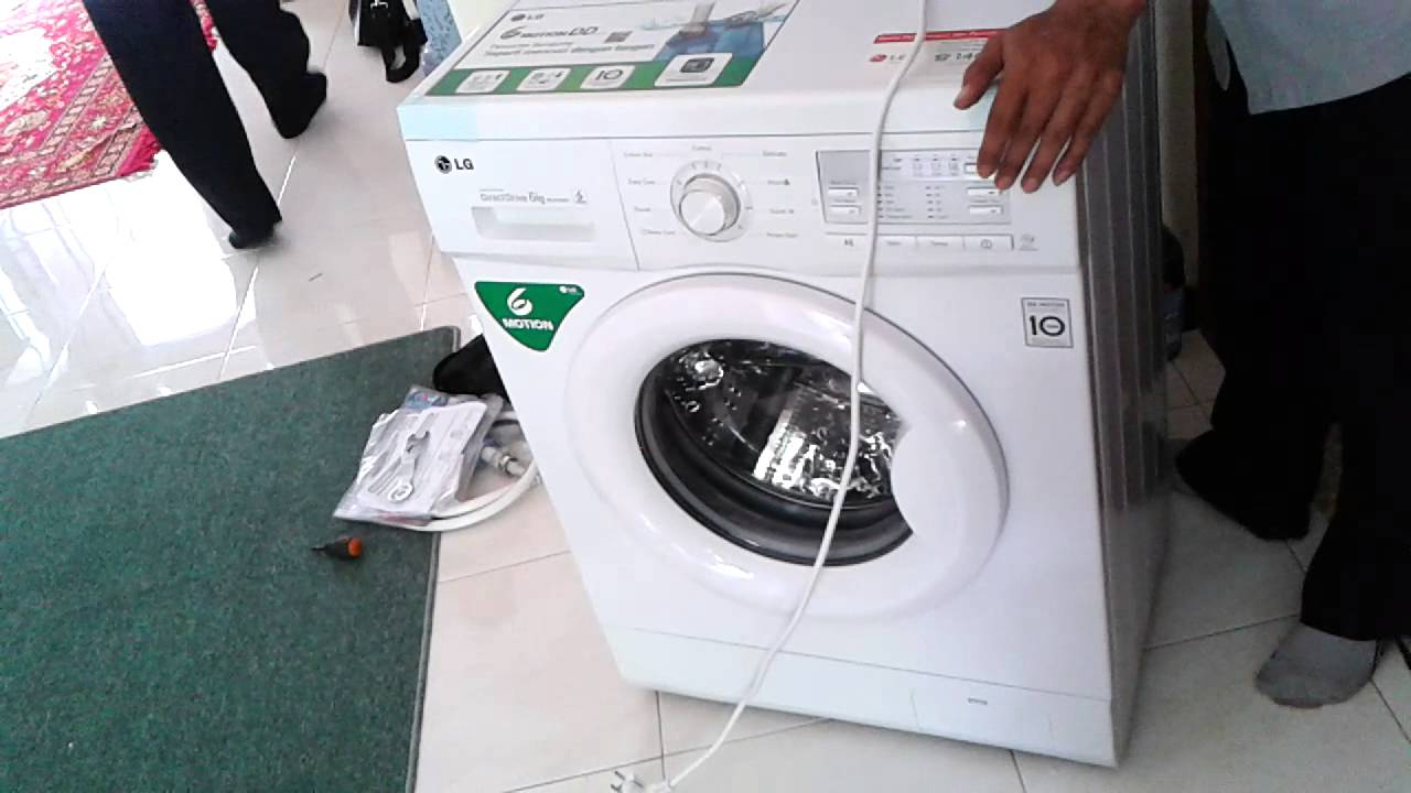 Instalasi Mesin Cuci Lg Direct Drive 6 Motions Youtube Front Loading Washer Fc1207s3w